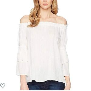 Kut From The Kloth White Off the Shoulder Top